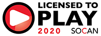 Licensed to Play SOCAN 2020
