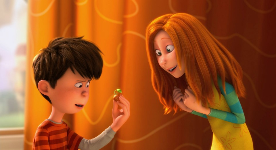 "The idealistic young Ted (ZAC EFRON) shows a rare seedling to the girl of his dreams, Audrey (TAYLOR SWIFT), in ""Dr. Seuss' The Lorax"", a 3D-CG adventure from the creators of ""Despicable Me"" and the imagination of Dr. Seuss.  Image courtesy of Universal Pictures and Illumination Entertainment."