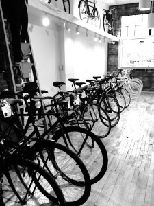 The lineup at the City Cyclery, Windsor, ON.